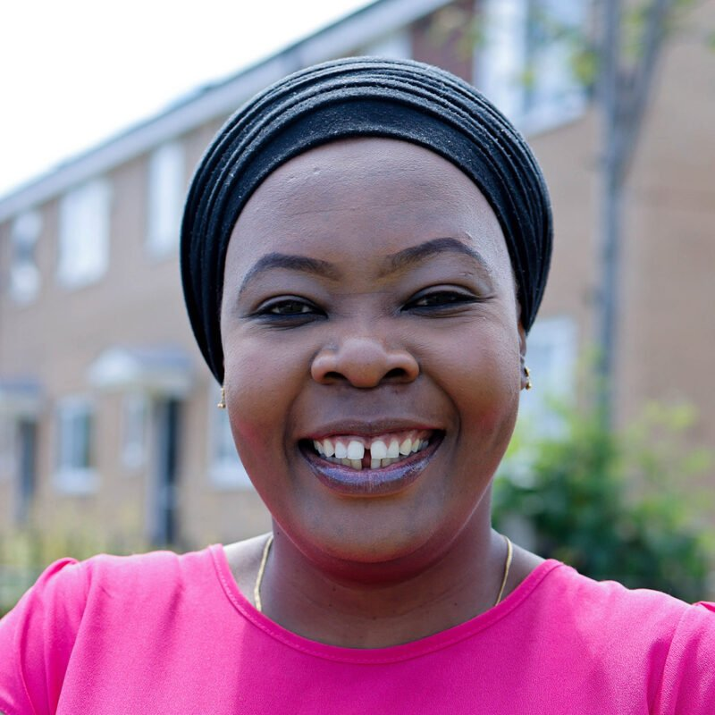 'I feel welcomed. My neighbours are very happy and I like our community'