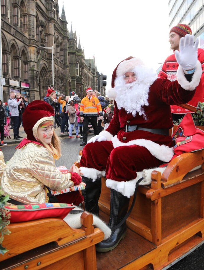 Christmas parade and switch-on