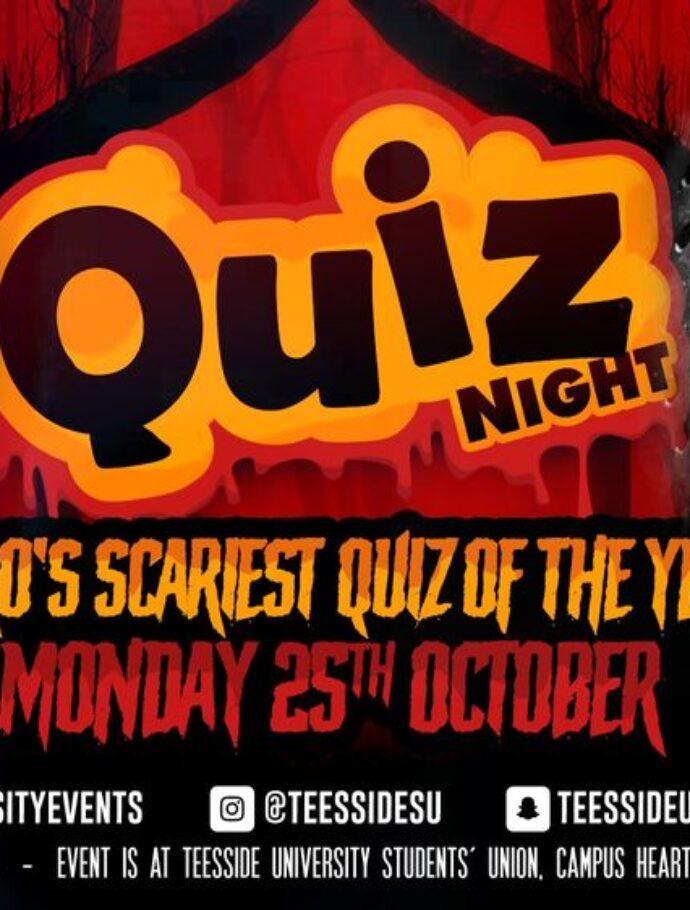 Monday Night Spooky Quiz at Teesside SU